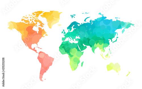 kola-kolorow-wzor-mapy-swiata