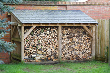 Log Store With Firewood