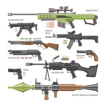 Gun Vector Military Weapon Or ...