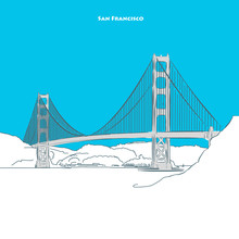 Two-toned Landmark Of Golden Gate Bridge
