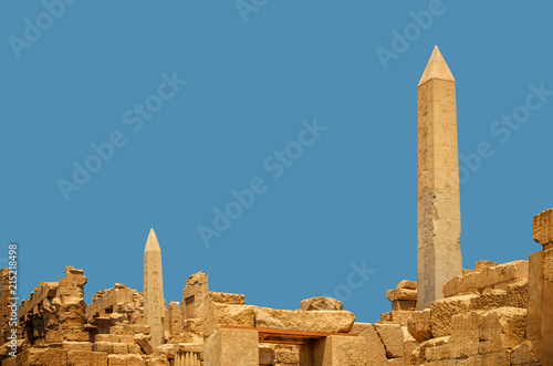 Fotografia, Obraz Ancient Obelisk with hieroglyphs at Karnak Temple, Egypt, Luxor