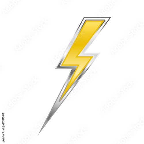 Garden Poster Cartoon cars Zigzag lightning bolt - yellow power sign