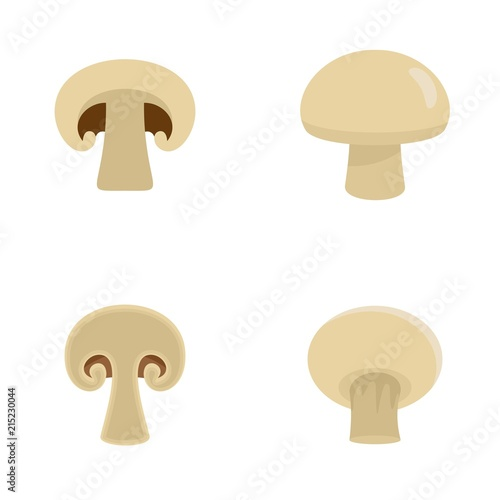 Photo Champignon mushroom icons set