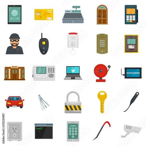 Photo Burglar robber mugger plunderer icons set