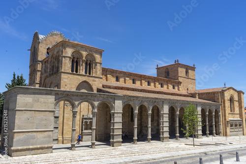 Basílica de los santos hermanos Mártires o de San Vicente en la ciudad de Ávila, España