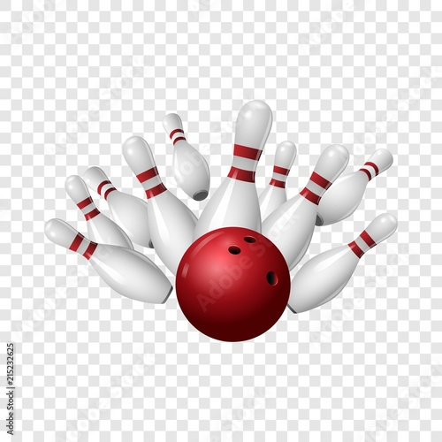 Canvas Bowling strike icon