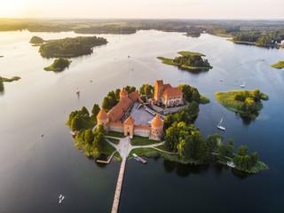Trakai Island Castle is an island castle located in Trakai, Lithuania on an island in Lake Galvė.