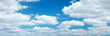canvas print picture - white clouds on the blue sky on sunny day