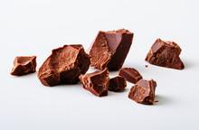 Chocolate Chunks Isolated On White Background