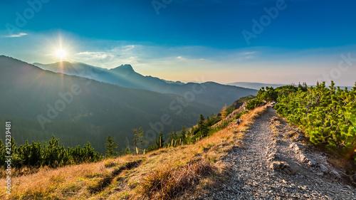 Foto auf Gartenposter Gebirge Wonderful sunset in Tatra mountains in autumn, Poland