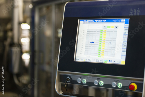 Device screen in factory