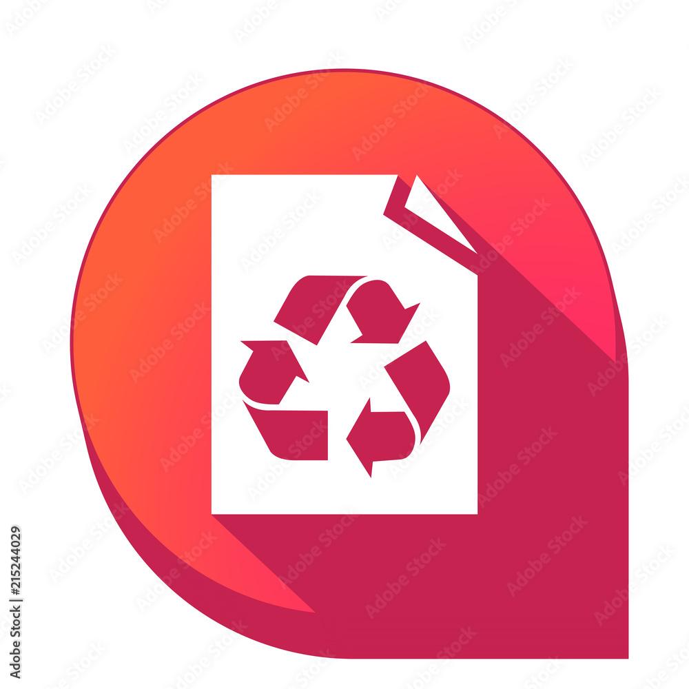Fototapeta ikona z długim cieniem na tle strzałki pinezki