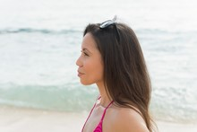 Woman Standing In The Beach