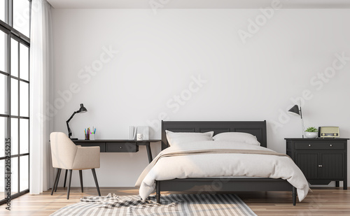 Fotografía  Modern classic bedroom 3d render