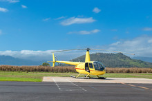 Yellow Sightseeing Helicopter ...