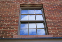 Close Up Of A New Sash Window. Close Up Of A New Sash Window From A Building In England.
