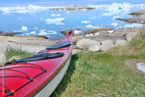Stickers pour porte Arctique Kayak in Greenland