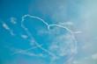 heart-shaped smoke in sky