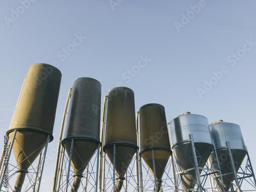 Small grain silos. Norfolk, UK.