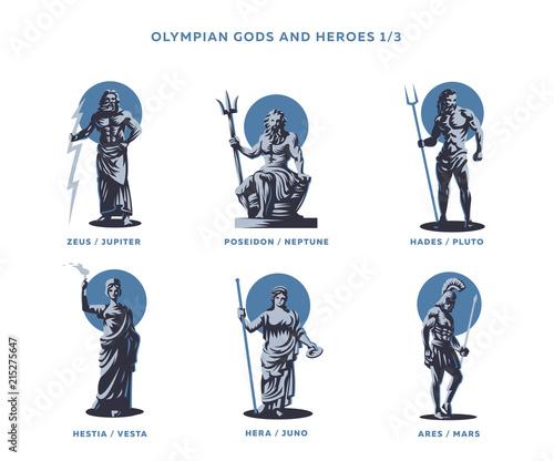 Fotografía Olimpian gods and heroes.