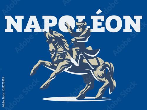 Napoleon on horseback. Wallpaper Mural