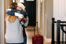 Home: Student Gives Mother Hug After Returning For Christmas