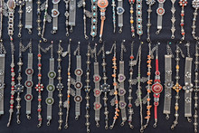 Necklaces And Bracelets At Market In Morocco