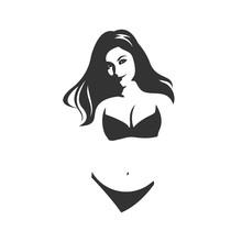 Beautiful Woman In Bikini Silhouette