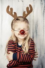 People: Little Girl In A Rudol...