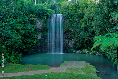 Deurstickers Watervallen Far north tropical waterfall