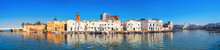 Waterfront Panorama With Picturesque Houses And Wall Of Kasbah At Old Port In Bizerte. Tunisia