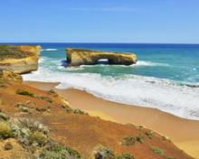 Eroded Limestone Rock In Ocean...