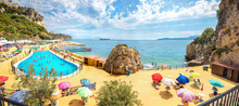 Colorful Luxury Beach With Swi...