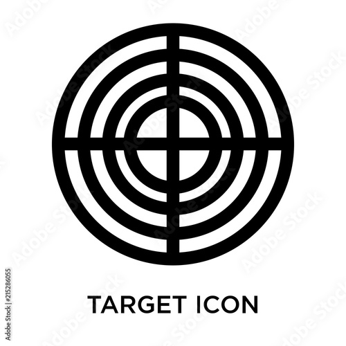 Target Icon Isolated On White Background Simple And
