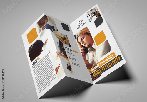 Trifold Brochure Template | Trifold Brochure Layout With Rounded Rectangles Kaufen Sie Diese