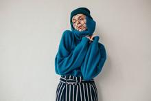Fashion Studio Portrait Of Woman