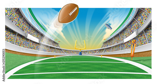 Fotografiet  Football field