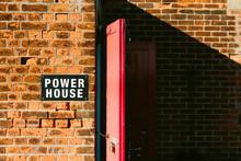 Powerhouse Sign On A Brick Building.