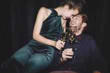 Couple In Love Celebrating
