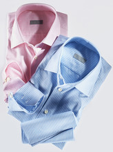 Two Shirts, Pink And Blue, On ...