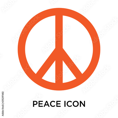 Foto  Peace icon vector sign and symbol isolated on white background, Peace logo conce