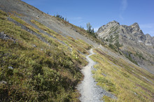 Hiking Trail Extending Through Vast Alpine Wilderness, North Cascades, Washington