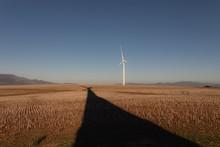 Wind Mill At A Wind Farm