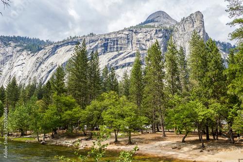 Spoed Foto op Canvas Natuur Mountain river, Yosemite national park, California, USA
