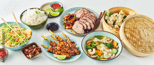 Fototapeta Buffet of Assorted of Chinese Food Dishes obraz