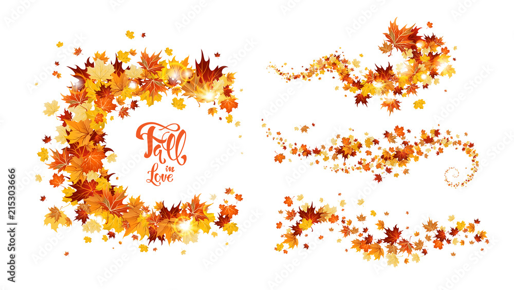 Fototapeta Autumn leaves swirl