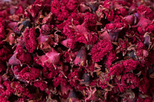Dried Roses Into A Pile In The Market, Morocco