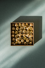 Box With Golden Small Christma...