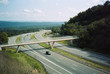 View of the Old National Highway from the Sideling Hill rest stop.