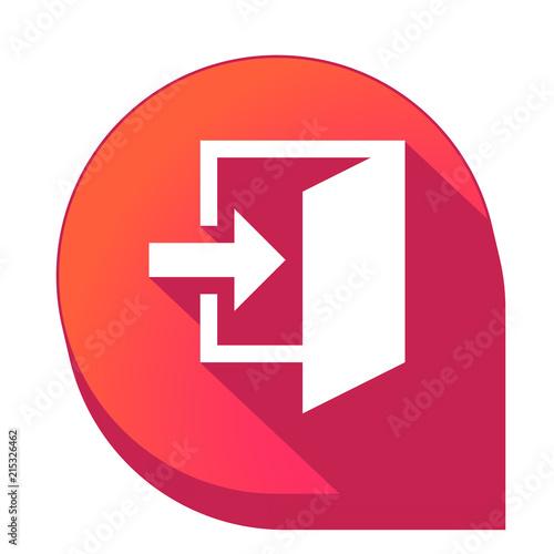 Fotografía  ikona z długim cieniem na tle strzałki pinezki